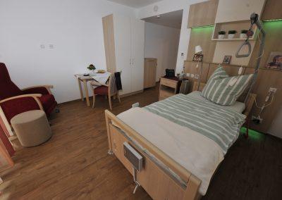 Neubau St. Vinzenz Hospiz, Gästezimmer  Foto: Fred Schöllhorn
