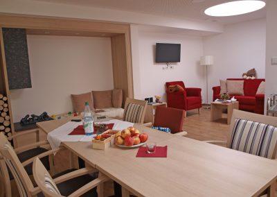 Wohnzimmer für Gäste und Angehörige